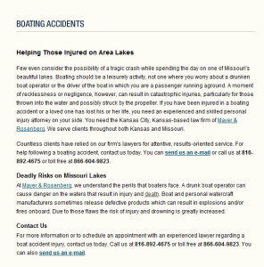 Kansas City Boating Accident Lawyers