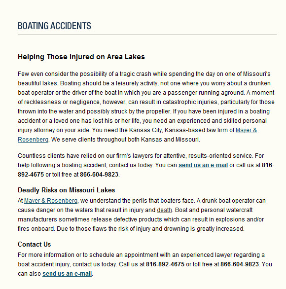 Boating Accident Lawyers Kansas City