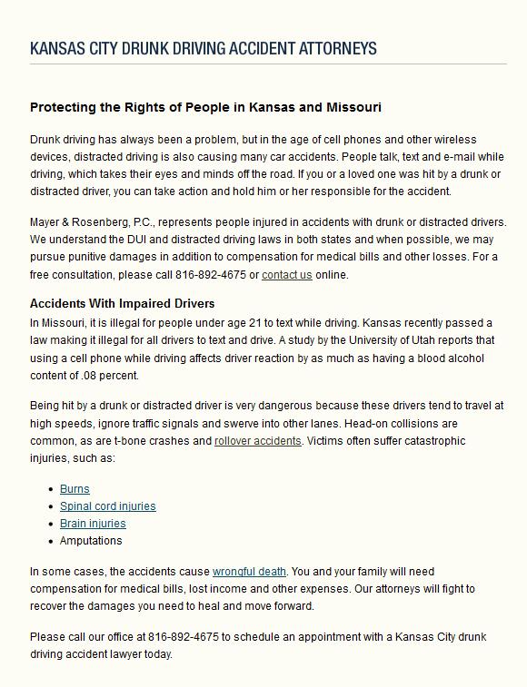 Kansas City Drunk Driving Accident Victim Lawyers